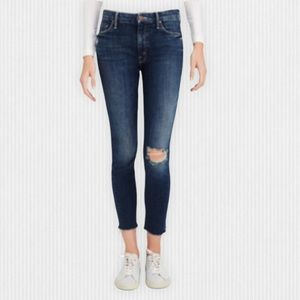 Mother High Waisted Looker Ankle Fray Jeans  26